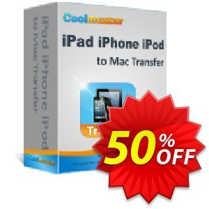 Coolmuster iPad iPhone iPod to Mac Transfer Coupon discount 50% off promotion -