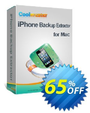 Coolmuster iPhone Backup Extractor for Mac Coupon discount 50% off promotion -