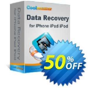 Coolmuster Data Recovery for iPhone iPad iPod (Mac Version) Coupon, discount Affiliate 50% OFF. Promotion:
