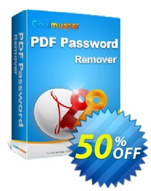Coolmuster PDF Password Remover Coupon discount 50% off promotion -