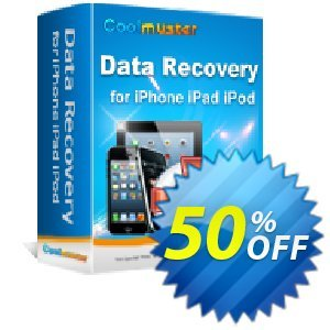 Coolmuster Data Recovery for iPhone iPad iPod Coupon discount 50% off promotion -