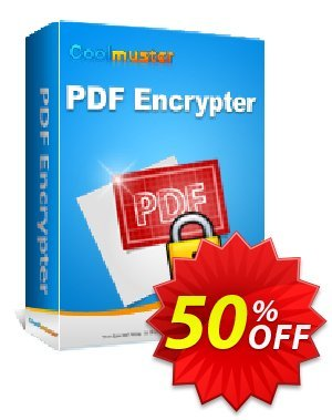 Coolmuster PDF Encrypter Coupon discount 50% off promotion -