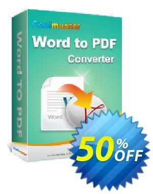 Coolmuster Word to PDF Converter Coupon, discount affiliate discount. Promotion:
