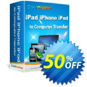 Coolmuster iPad iPhone iPod to Computer Transfer Coupon discount 50% off promotion. Promotion:
