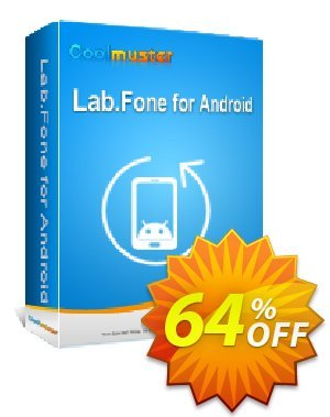Coolmuster Lab.Fone for Android Lifetime (5 Devices, 1 PC) Coupon discount 64% OFF Coolmuster Lab.Fone for Android Lifetime (5 Devices, 1 PC), verified. Promotion: Special discounts code of Coolmuster Lab.Fone for Android Lifetime (5 Devices, 1 PC), tested & approved