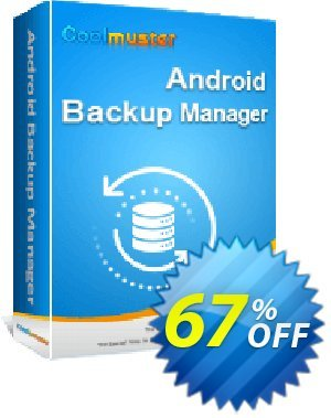 Coolmuster Android Backup Manager - Lifetime License discount coupon 67% OFF Coolmuster Android Backup Manager - Lifetime License, verified - Special discounts code of Coolmuster Android Backup Manager - Lifetime License, tested & approved