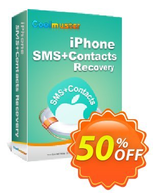 Coolmuster iPhone SMS+Contacts Recovery Coupon, discount Affiliate 50% OFF. Promotion:
