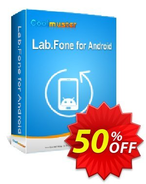 Coolmuster Lab.Fone for Android - 1 Year License(9 Devices, 3 PCs) Coupon, discount 50% off promotion. Promotion: