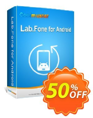 Coolmuster Lab.Fone for Android - Lifetime License(Unlimited Devices, 1 PC) Coupon, discount 50% off promotion. Promotion: