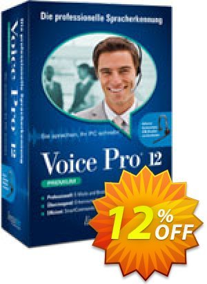 Voice Pro 12 Premium Coupon, discount Coupon code Voice Pro 12 Premium. Promotion: Voice Pro 12 Premium offer from Linguatec