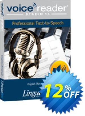 Voice Reader Studio 15 ENU / English (American) Coupon, discount Coupon code Voice Reader Studio 15 ENU / English (American). Promotion: Voice Reader Studio 15 ENU / English (American) offer from Linguatec