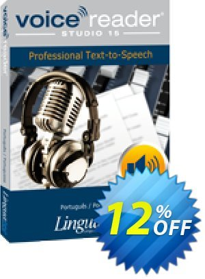 Voice Reader Studio 15 PTP / Português/Portuguese discount coupon Coupon code Voice Reader Studio 15 PTP / Português/Portuguese - Voice Reader Studio 15 PTP / Português/Portuguese offer from Linguatec