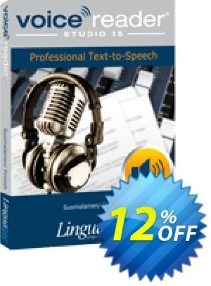 Voice Reader Studio 15 FIF / Suomalainen/Finnish discount coupon Coupon code Voice Reader Studio 15 FIF / Suomalainen/Finnish - Voice Reader Studio 15 FIF / Suomalainen/Finnish offer from Linguatec