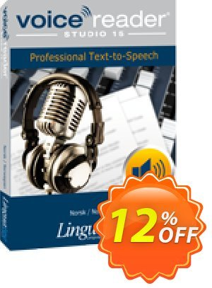 Voice Reader Studio 15 NON / Norsk/Norwegian discount coupon Coupon code Voice Reader Studio 15 NON / Norsk/Norwegian - Voice Reader Studio 15 NON / Norsk/Norwegian offer from Linguatec