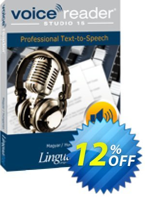 Voice Reader Studio 15 HUH / Magyar/Hungarian discount coupon Coupon code Voice Reader Studio 15 HUH / Magyar/Hungarian - Voice Reader Studio 15 HUH / Magyar/Hungarian offer from Linguatec