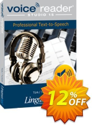 Voice Reader Studio 15 TRT / Türk/Turkish Coupon, discount Coupon code Voice Reader Studio 15 TRT / Türk/Turkish. Promotion: Voice Reader Studio 15 TRT / Türk/Turkish offer from Linguatec