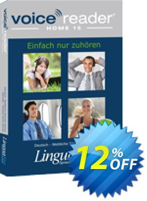 Voice Reader Home 15 English (American) - Male voice [Tom] Coupon, discount Coupon code Voice Reader Home 15 English (American) - Male voice [Tom]. Promotion: Voice Reader Home 15 English (American) - Male voice [Tom] offer from Linguatec