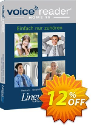 Voice Reader Home 15 English (British) - Male voice [Daniel] Coupon, discount Coupon code Voice Reader Home 15 English (British) - Male voice [Daniel]. Promotion: Voice Reader Home 15 English (British) - Male voice [Daniel] offer from Linguatec