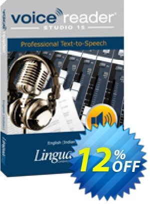 Voice Reader Studio 15 ENI / English (Indian) Coupon, discount Coupon code Voice Reader Studio 15 ENI / English (Indian). Promotion: Voice Reader Studio 15 ENI / English (Indian) offer from Linguatec