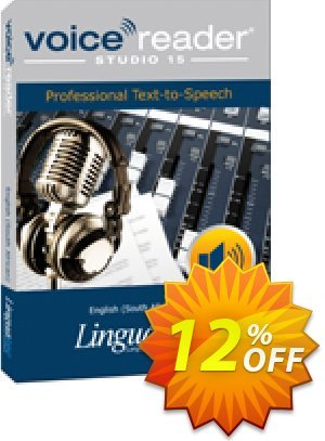 Voice Reader Studio 15 ENZ / English (South African) Coupon, discount Coupon code Voice Reader Studio 15 ENZ / English (South African). Promotion: Voice Reader Studio 15 ENZ / English (South African) offer from Linguatec