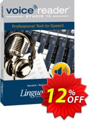 Voice Reader Studio 15 BAE / Beuskal/Basque 優惠券,折扣碼 Coupon code Voice Reader Studio 15 BAE / Beuskal/Basque,促銷代碼: Voice Reader Studio 15 BAE / Beuskal/Basque offer from Linguatec