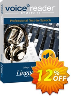 Voice Reader Studio 15 GLE / Galego/Galician Coupon, discount Coupon code Voice Reader Studio 15 GLE / Galego/Galician. Promotion: Voice Reader Studio 15 GLE / Galego/Galician offer from Linguatec