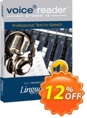 Voice Reader Studio 15 MNC / Mandarin (China) Coupon, discount Coupon code Voice Reader Studio 15 MNC / Mandarin (China). Promotion: Voice Reader Studio 15 MNC / Mandarin (China) offer from Linguatec