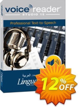 Voice Reader Studio 15 ARW / Arabic Coupon, discount Coupon code Voice Reader Studio 15 ARW / Arabic. Promotion: Voice Reader Studio 15 ARW / Arabic offer from Linguatec