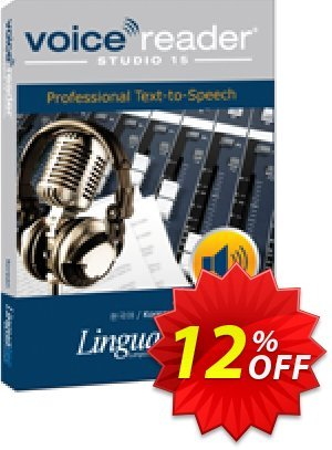 Voice Reader Studio 15 KOK / Korean discount coupon Coupon code Voice Reader Studio 15 KOK / Korean - Voice Reader Studio 15 KOK / Korean offer from Linguatec