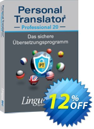 Update Personal Translator Professional 20 Coupon, discount Coupon code Update Personal Translator Professional 20. Promotion: Update Personal Translator Professional 20 offer from Linguatec