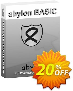 abylon BASIC Coupon, discount 20% OFF abylon BASIC, verified. Promotion: Big sales code of abylon BASIC, tested & approved
