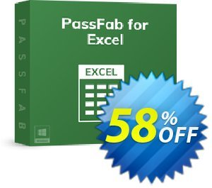 Get PassFab for Excel 58% OFF coupon code