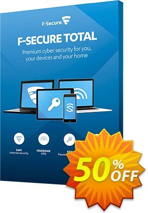 F-Secure TOTAL Coupon discount 50% OFF F-Secure TOTAL, verified. Promotion: Imposing offer code of F-Secure TOTAL, tested & approved