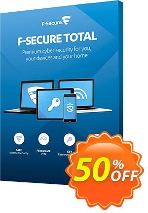 F-Secure TOTAL Coupon, discount 50% OFF F-Secure TOTAL, verified. Promotion: Imposing offer code of F-Secure TOTAL, tested & approved