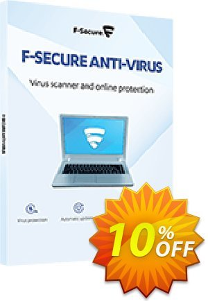 F-Secure ANTI-VIRUS discount coupon 10% OFF F-Secure ANTI-VIRUS, verified - Imposing offer code of F-Secure ANTI-VIRUS, tested & approved