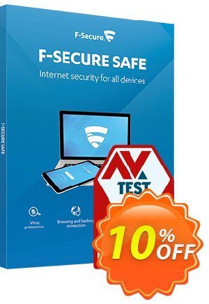 F-Secure SAFE discount coupon 10% OFF F-Secure SAFE, verified - Imposing offer code of F-Secure SAFE, tested & approved