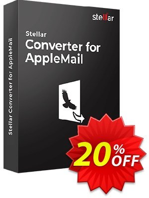 Stellar Apple Mail to Outlook 2011 Converter Coupon, discount Stellar Converter for AppleMail - Single User fearsome discounts code 2019. Promotion: NVC Exclusive Coupon