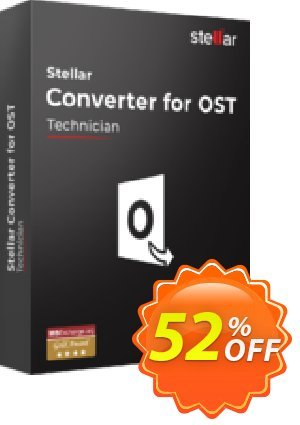 Stellar OST to PST Converter discount (Technician) discount coupon Stellar Converter for OST Technician wonderful sales code 2021 - NVC Exclusive Coupon