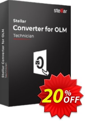 OLM to PST Converter discount (Technician) Coupon, discount Stellar Converter for OLM Technician [1 Year Subscription] exclusive sales code 2020. Promotion: NVC Exclusive Coupon