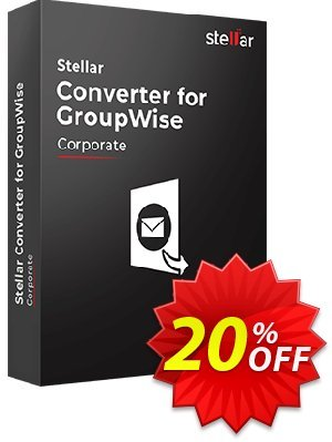 Stellar GroupWise to PST Converter Coupon, discount Stellar Converter for GroupWise [1 Year Subscription] impressive offer code 2019. Promotion: NVC Exclusive Coupon