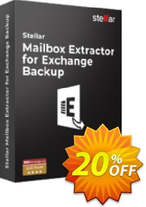 Stellar Mailbox Extractor for Exchange Backup 優惠券,折扣碼 Stellar Mailbox Extractor for Exchange Backup formidable promotions code 2021,促銷代碼: NVC Exclusive Coupon