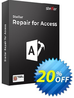 Stellar Phoenix Access Database Repair Coupon, discount Stellar Repair for Access-V6 stunning discounts code 2019. Promotion: NVC Exclusive Coupon
