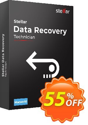 Stellar Data Recovery for MAC Technician Coupon, discount 20% off on all re-purchase(for Support Team). Promotion: 20% off on all re-purchase(for Support Team)