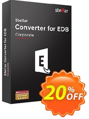Stellar Converter for EDB 優惠券,折扣碼 Stellar Converter for EDB [1 Year Subscription] special offer code 2019,促銷代碼: 20% off on all re-purchase(for Support Team)