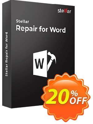 Stellar Phoenix Word Repair Coupon, discount Stellar Repair for Word [1 Year Subscription] marvelous promo code 2019. Promotion: NVC Exclusive Coupon