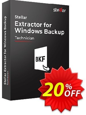 Stellar Phoenix Window Backup Recovery Coupon, discount Stellar Extractor for Windows Backup staggering discount code 2019. Promotion: NVC Exclusive Coupon