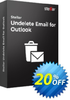 Stellar Phoenix Deleted Email Recovery Coupon, discount Stellar Undelete Email for Outlook [1 Year Subscription] awful discount code 2020. Promotion: NVC Exclusive Coupon