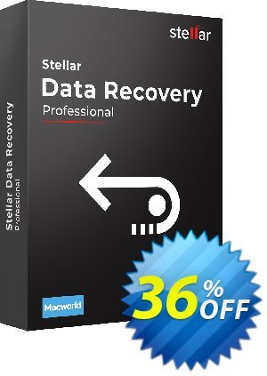 Get Stellar Data Recovery Professional for Mac 36% OFF coupon code