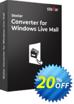 Get Stellar Converter for Windows Mail Technician 20% OFF coupon code