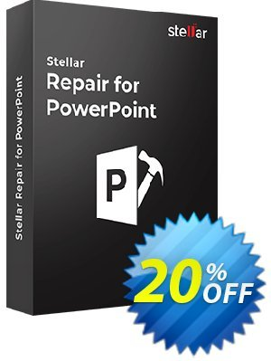 Stellar Phoenix PowerPoint Repair Coupon discount Stellar Repair for PowerPoint [1 Year Subscription] wondrous discounts code 2020. Promotion: NVC Exclusive Coupon